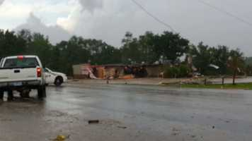 Cattleman's Restaurant and Provisions damaged during storm in Belmond.