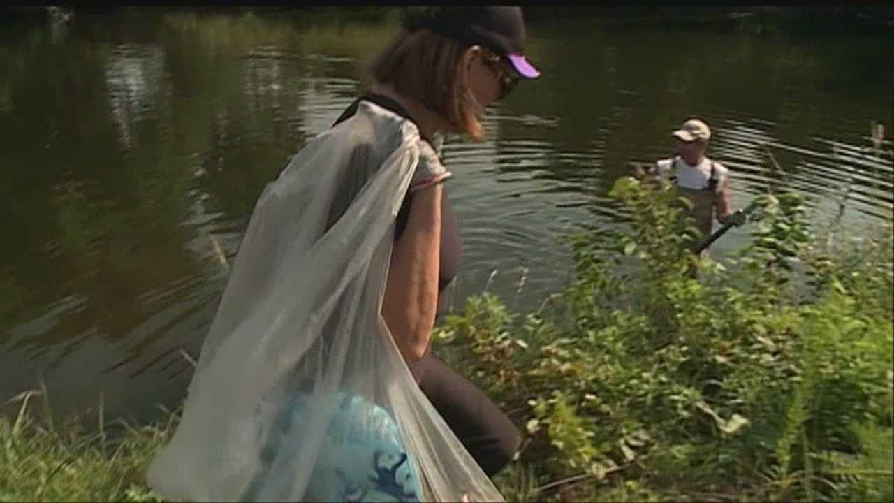Scuba club cleans area lake
