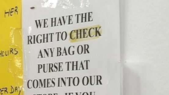 No purse policy