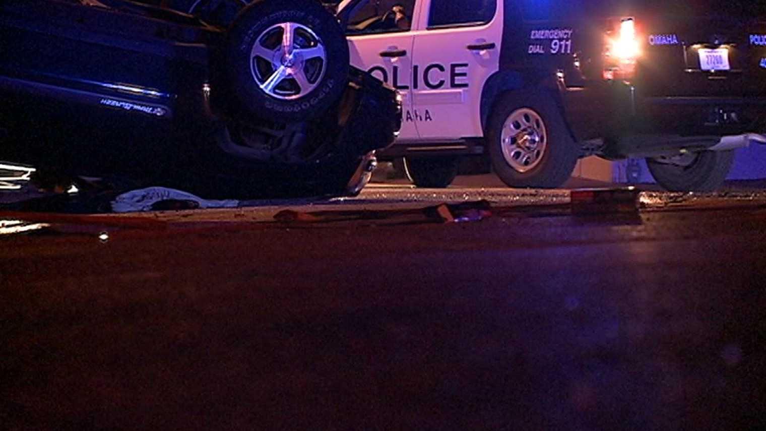 Image - rollover-crash-police-22nd.JPG