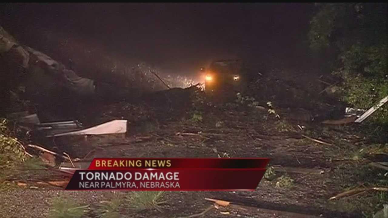 Neb. towns clean up tornado debris after Thursday night storm