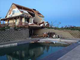 Storms damaged homes near Moville, Iowa.