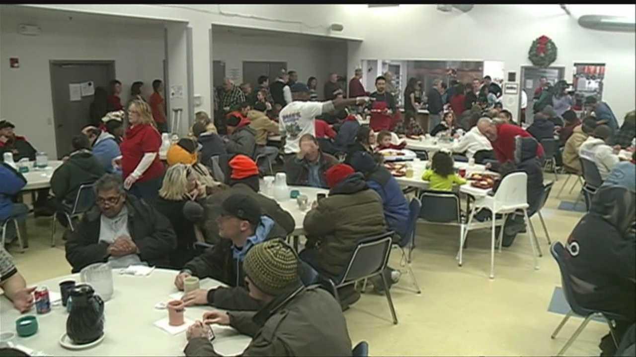 Family cooks up Christmas feast for homeless