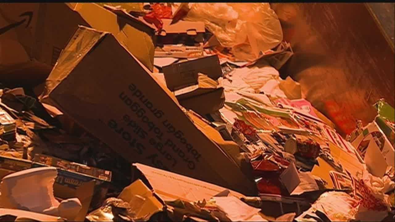 Omaha sees big increase in trash after Christmas