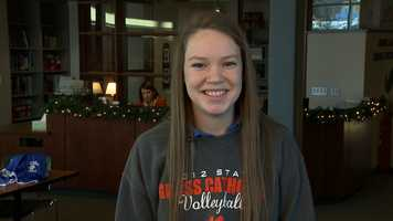Joelle Overkamp, Gross Catholic High SchoolJoelle has a 3.97 grade point average and is a three sport athlete. She is on the high honor roll, member of National Honor Society and a student ambassador.