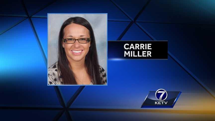 Carrie Miller - teacher arrested, gfx