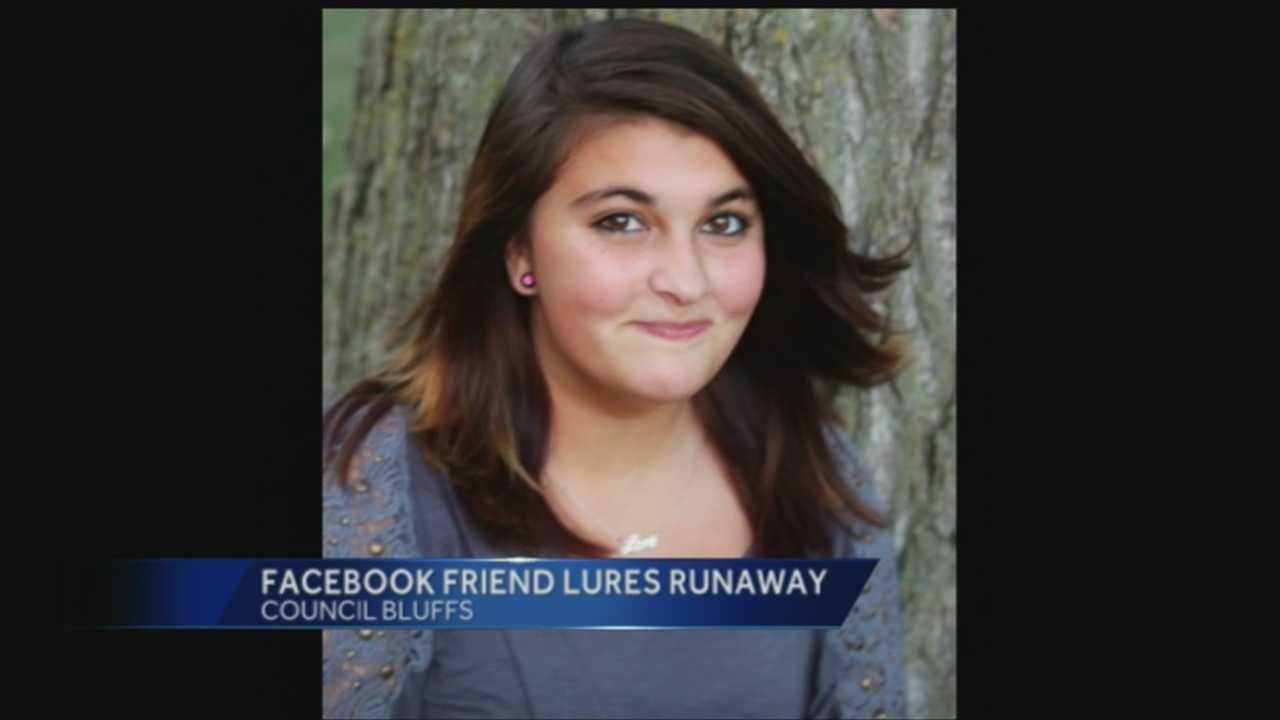 Facebook friend lures runaway