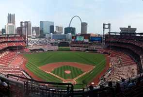 Busch Stadium, home of the St. Louis Cardinals -- $250 for private tour for a group of up to 20 that ends with a surprise proposal on the field -- $500 for private tour, message displayed on scoreboard. Proposals only offered on non-game days.