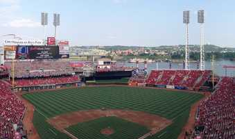 Great American Ball Park, home of the Cincinnati Reds -- $50 for message displayed on scoreboard or printed on a sign delivered by Rosie Red, the team's mascot.