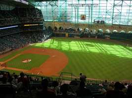 Minute Maid Park, home of the Houston Astros -- $500 for proposal featured live on video board (limit one per series, proposals not offered in consecutive games). Includes two tickets and commemorative DVD.