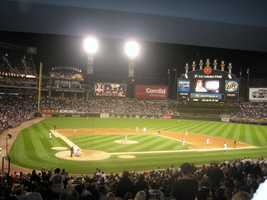 U.S. Cellular Field, home of the Chicago White Sox -- $55 for message displayed on scoreboard.
