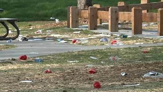 Benson Park trash