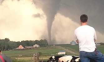 Tornadoes north of Wisner, Nebraska