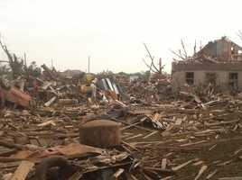 Pilger, NE tornado aftermath