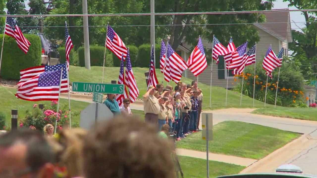 vid-Body of Marine returns safely to Iowa