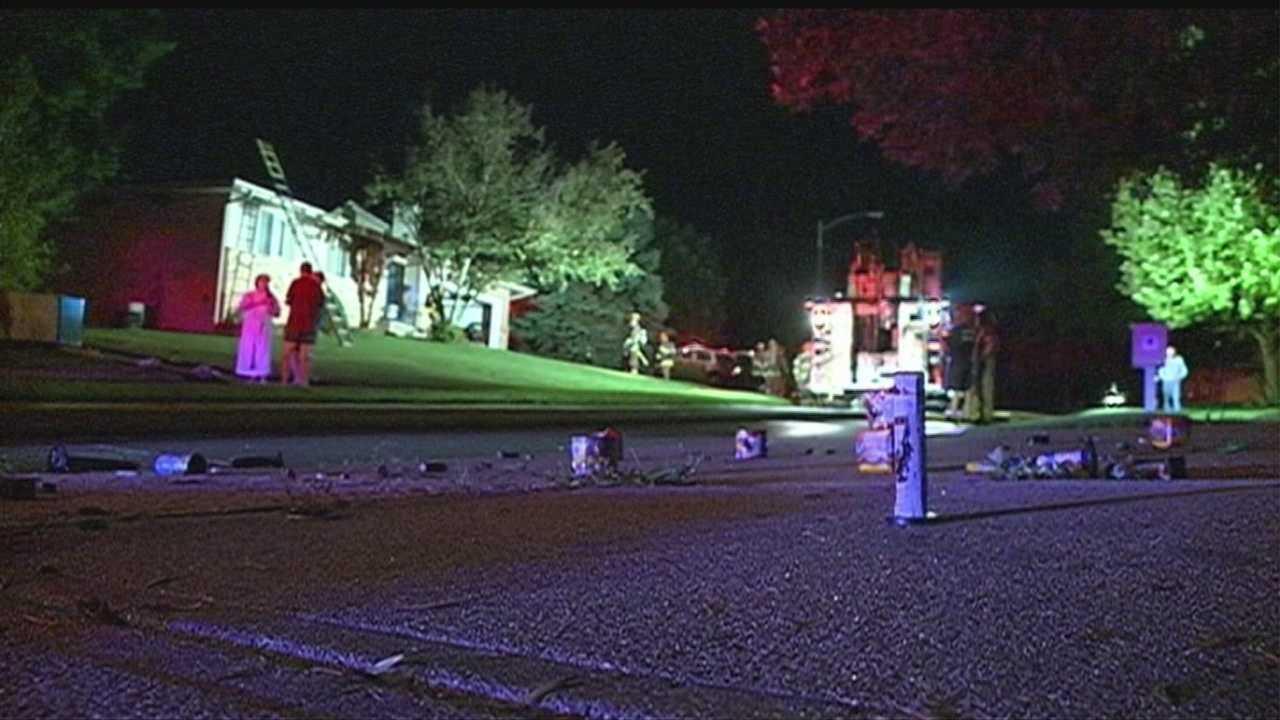 Fireworks ignite West Omaha house