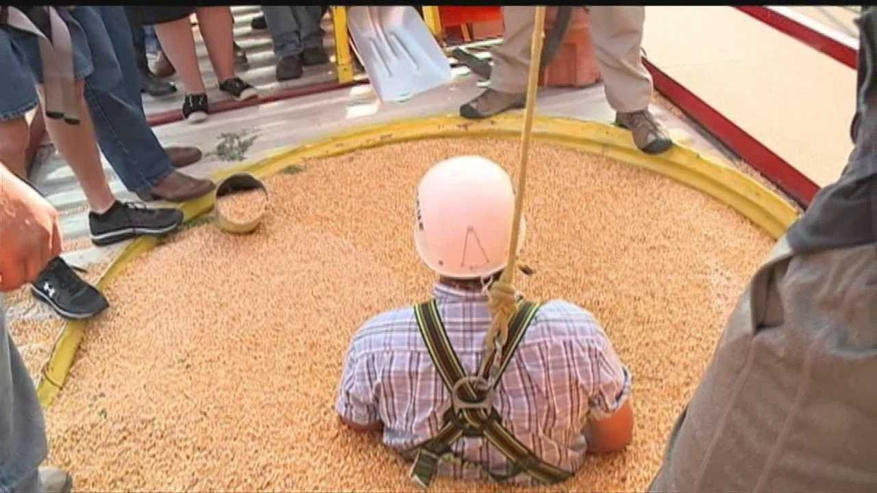 Farmers learn grain bin safety