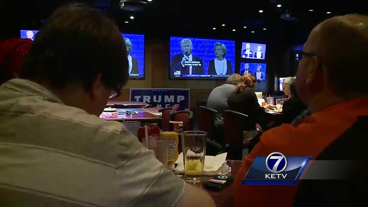 At watch parties, Omahans react to presidential debate