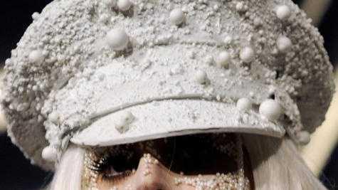 Lady Gaga looks - white beads