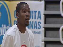 Oklahoma City Thunder star Kevin Durant says he's just like the kids who attended his camp on Wednesday -- he just wants to play ball and have fun.