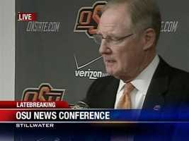 Two Oklahoma State coaches were killed along with Olin and Paula Branstetter in an Arkansas plane crash on Thursday night.