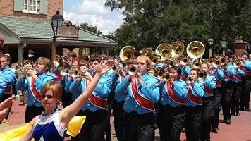The Southside High School band performs at Walt Disney World.