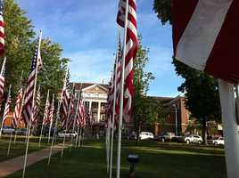 Flag Day is celebrated at the Elk's Lodge in Fayetteville.