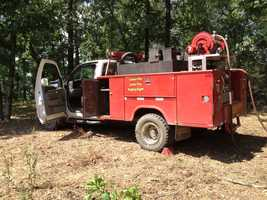 Arkansas Forestry Department rangers are fighting Cedarville wildfire Monday afternoon