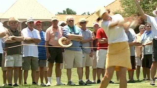 LPGA tour open to spectators Tuesday.