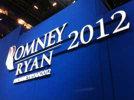 Mitt Romney and Paul Ryan logo spotted at the Republican National Convention.