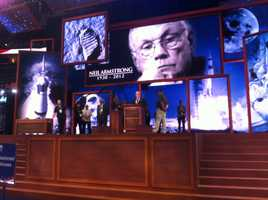 Sunday the Republican National Convention screens were spotted showing homage to astronaut, and first man on the moon, Neil Armstrong.