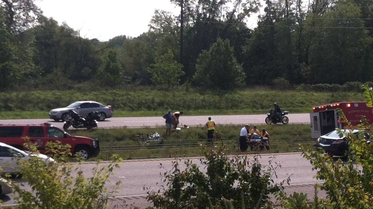 Motorcycle wreck on I-540 near exit 86