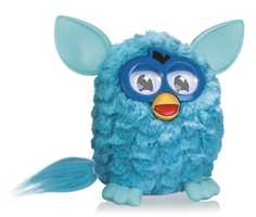 Furby: Teal FURBY is the most popular so far! The new Hasbro FURBY will develop its personality based on how you play with it. It will dance to your favorite songs. Put it in a room with a few of its friends and they'll interact with each other in all sorts of hilarious ways while speaking either English or the special FURBY language, FURBISH.
