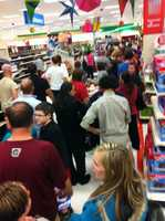 Crowds and lines at Target in Fayetteville!