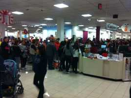 Checkout lines on Black Friday