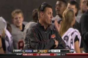 Mike Gundy: Oklahoma State University&#x3B; (D.O.B. 8/12/1967 -- AGE 45)