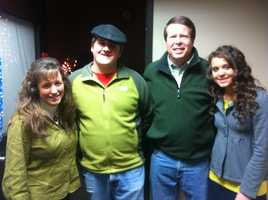 Christmas decorating winner Rylan Williams with the Duggar Family!
