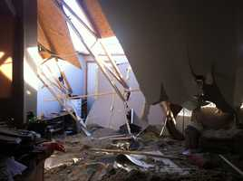 Hobbs family lving room roof collapse