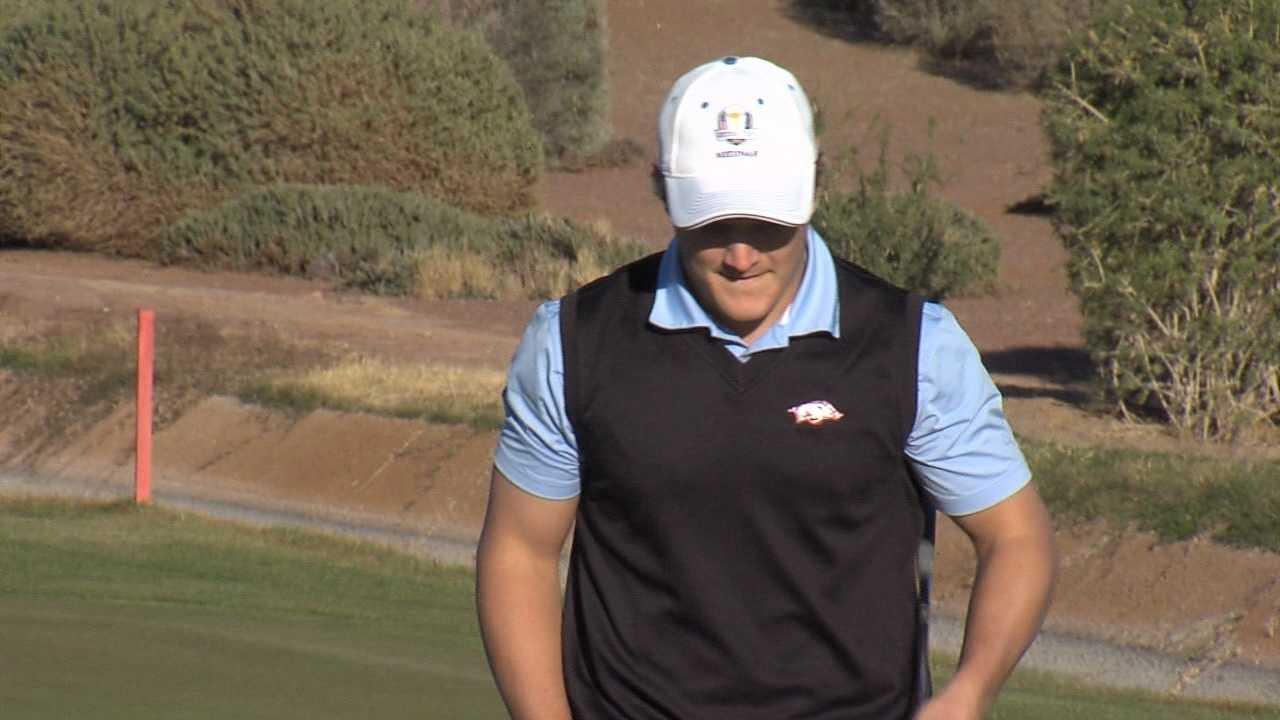 Razorback junior golfer Sebastian Cappelen