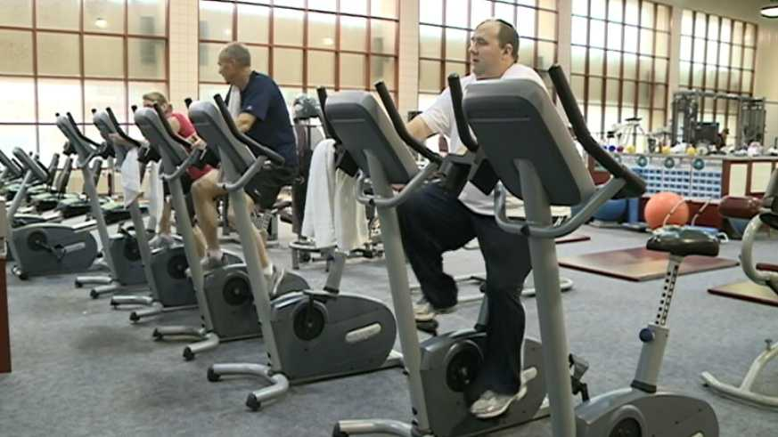 Members hit the gym to start working on New Year's resolutions.