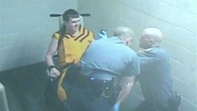 VIDEO: Jailers pepper spray inmate
