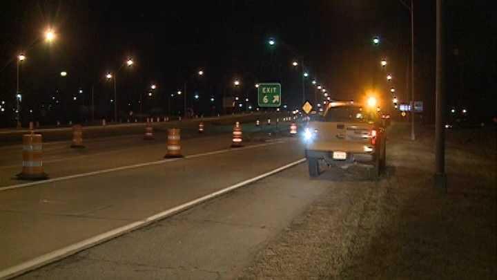 Roadside assistance crews along Interstate 540