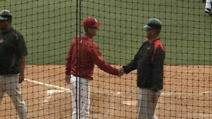 Arkansas baseball head coach Dave Van Horn
