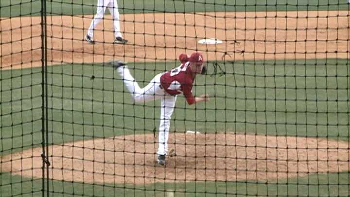 Arkansas pitcher Trey Killian