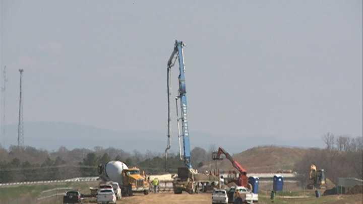 Crews working on I-49