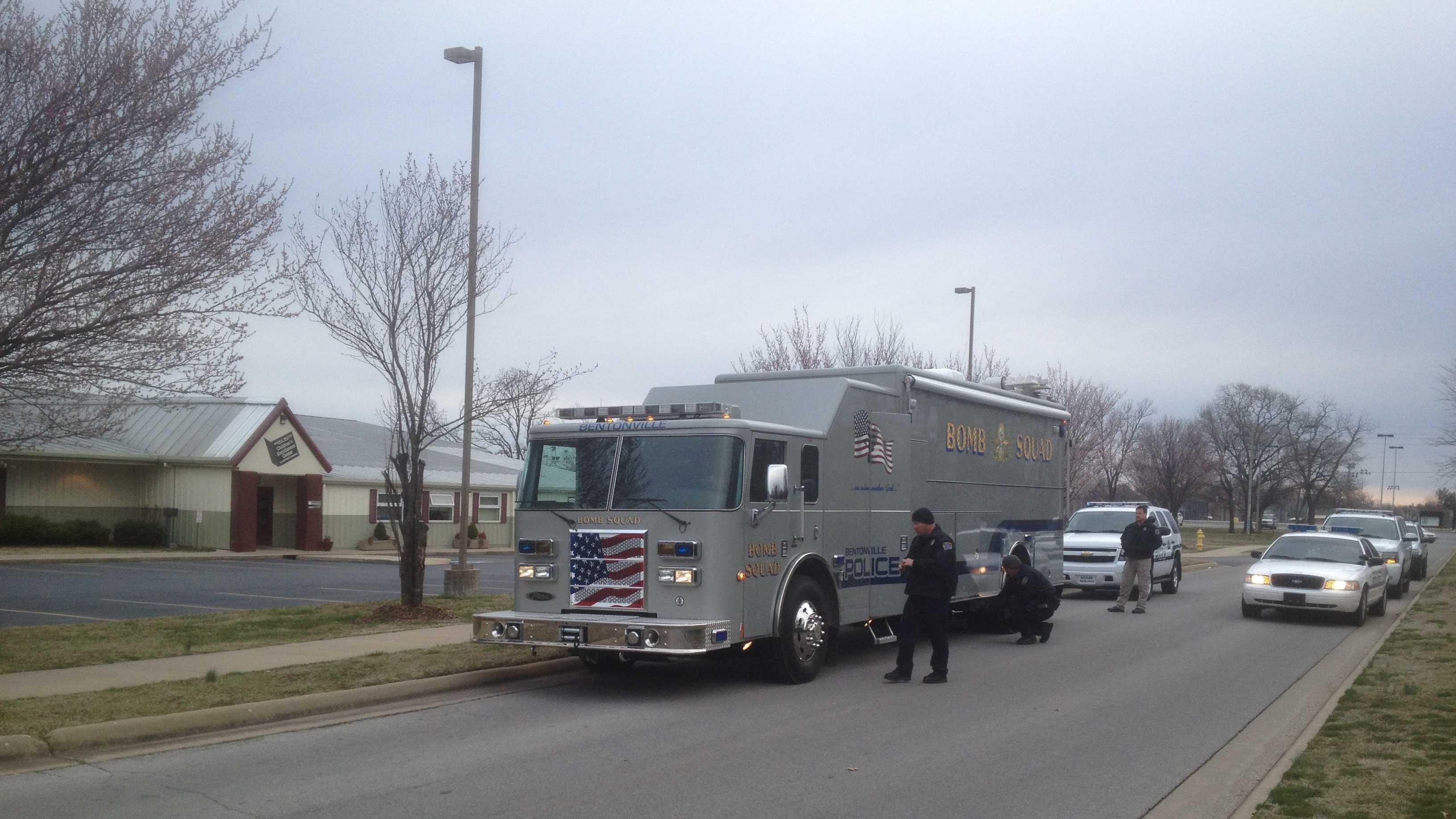Bomb squad at childrens center.JPG