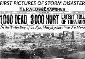 March 18, 1925Tri-State (Missouri, Illinois, Indiana)695 deaths