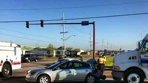 Traffic accident at Wheeler and Fresno