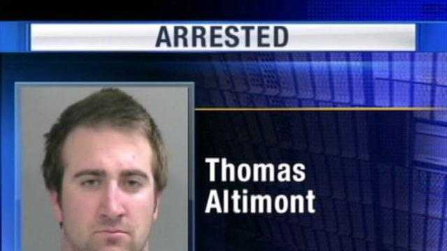 Friday morning, pitcher Thomas Altimont was arrested by fayetteville police