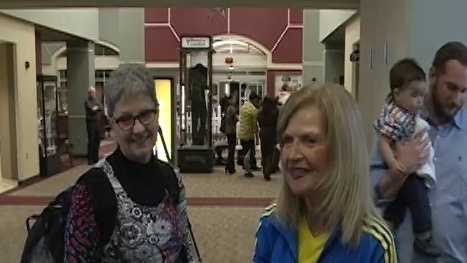 Dr. Joni Carmack (left) and Mary Jo Brinkman (right) both ran in the Boston Marathon. They made it home safely to Fort Smith Tuesday night.